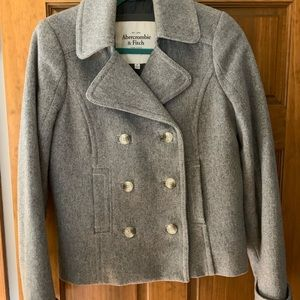 Gray Abercrombie and Fitch pea coat